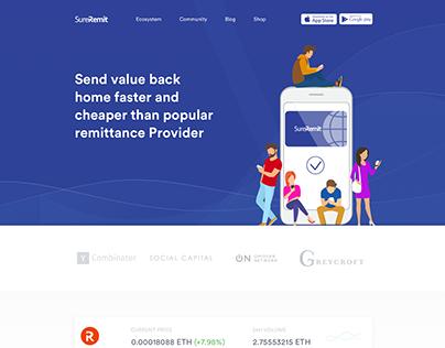 SureRemit Landing page