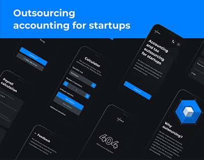 Landing page for accounting services