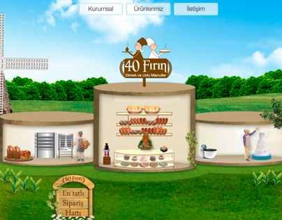 40 Fırın Logo, branding, menü, web site design