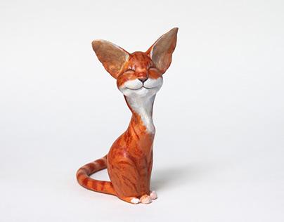 CAT's figurines handcraft of papier-mache.