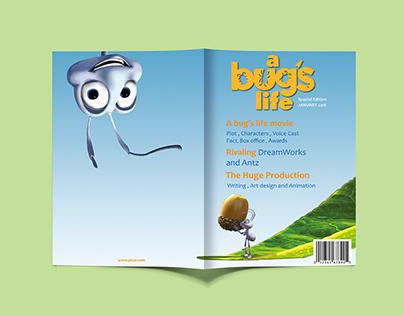 """""""A Bug's Life Movie """" Magazine Design"""