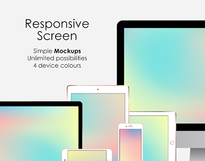 Responsive Screen Simple Mockups Set