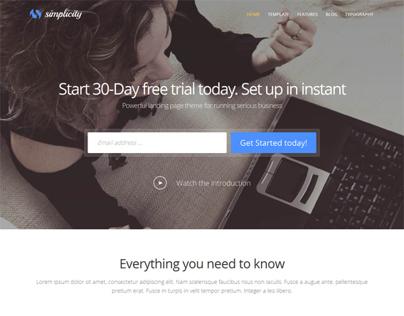Gavick Simplicity, Premium Joomla Parallax Business