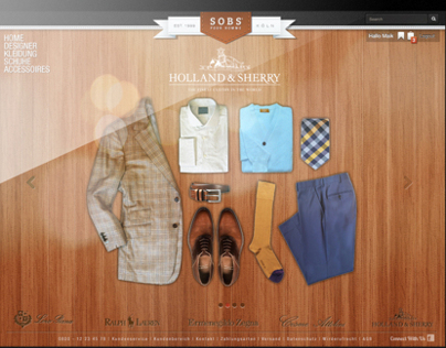 Sobs - Design for a webshop