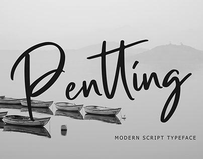 Pentting Modern Script Font