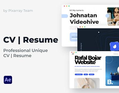 Resume Portfolio CV Presentation