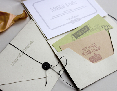 Florencia & Pablo | Letterpress invitations