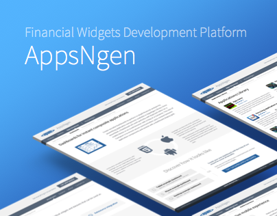 AppsNgen - Financial Widgets Development Platform
