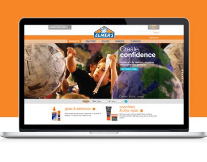 Elmers.com Homepage Redesign