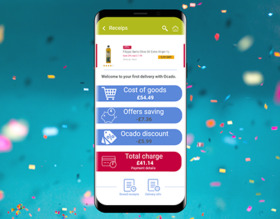 A receipt function for a Grocery E-commerce app