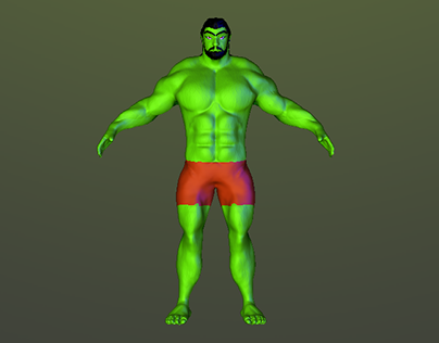 3D Character (Fighter) for a fighting game.