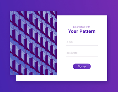#01 Daily UI // Sign Up