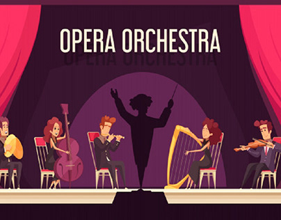 Theater opera orchestra onstage