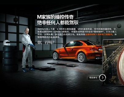 BMW 1M series - website