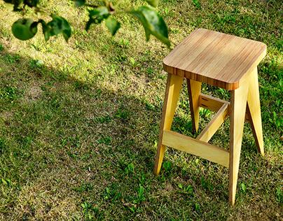 Plywood bar chair