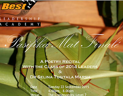 Pasifika Mat Poetry Recital - email invitation