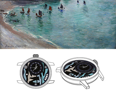 "ALB Watches: Wrist Watch ""Etretat Cliff"""