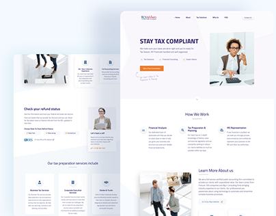 Modern Landing Page for Tax Services