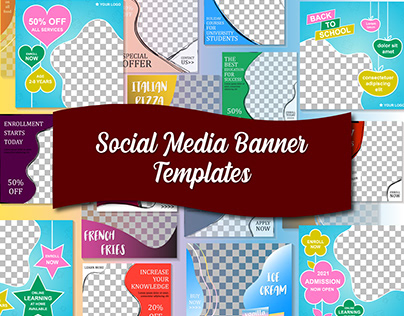 Social media banner templates