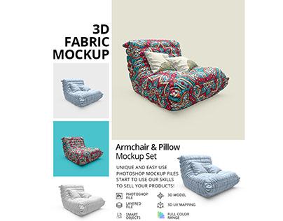 Chair & Pillows Mockup