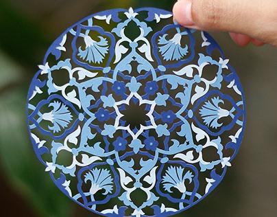 Papercut Floral Motif