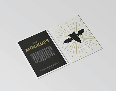 Free Download - A6 Flyer / Postcard Mock-Ups