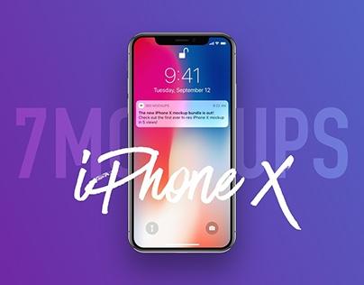 7 Most Popular iPhone X Mockups
