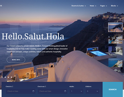 Luvianna Hotel WordPress Theme #84014