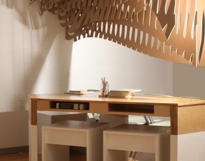 Furniture / Work-In-Flow Desk & Canopy