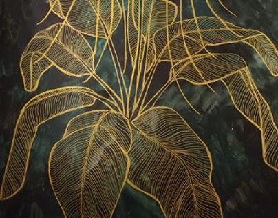 "Ilustracion botanica serie ""About last night"""