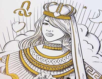 THE GOLDEN QUEEN - PaperBrain Lab Poster