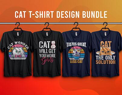 Cat T-Shirt Design Bundle