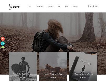 Le Mars - Minimal Personal Blog HTML Template