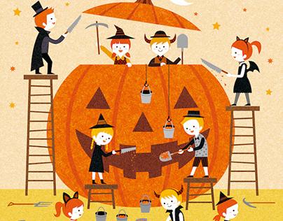 Halloween big pumpkin / digital work