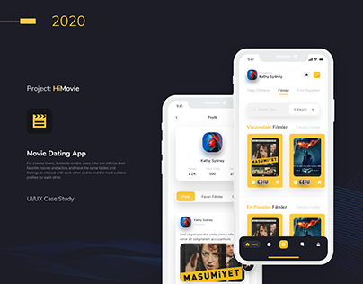 Movie Dating Portal App - UI / UX Case Study