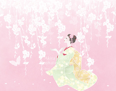 "LINE Theme ""Maiko and Cherry Blossoms"" / Original Works"