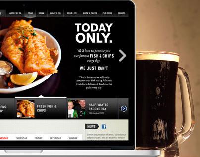 Rí Rá Irish Pubs - website