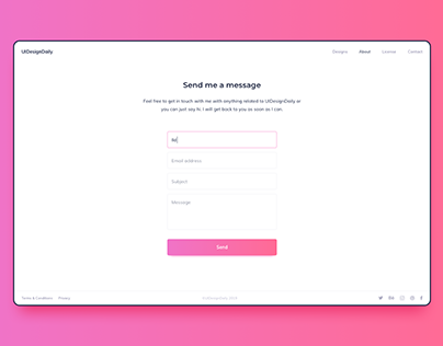 Day 915 • Contact Page UI Design