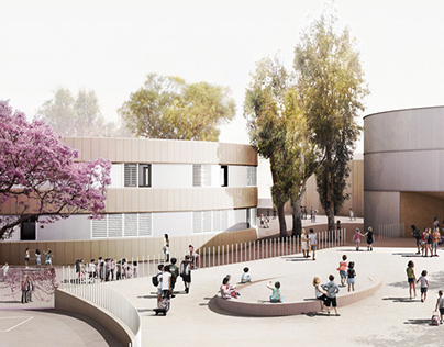 New Polivalent Pavillion for the Lycée Français