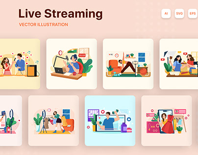 M138_Live Streaming Illustrations