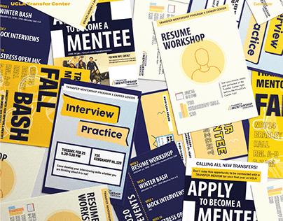UCLA Transfer Center: Social Media & Marketing Graphic