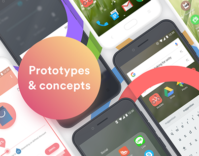 Launcher interactions concepts developed in 2017