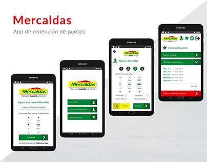 Diseño App Mercaldas UI/UX