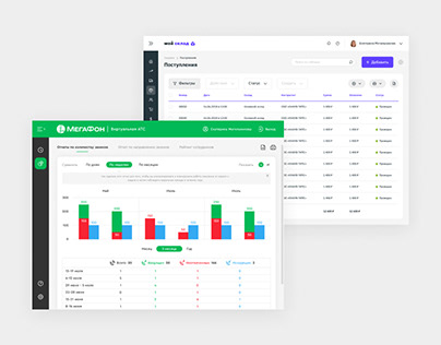 UI/UX Design — Hosted PBX & Warehouse Control System
