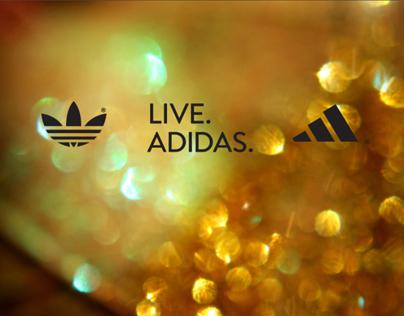 Live. Adidas. Micro site design