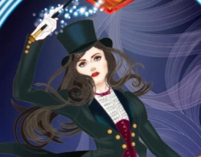"""Ingress fan art """"Misty Hannah"""" project for Team Enigma"""