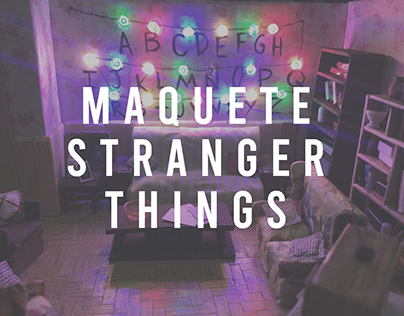 maquete stranger things