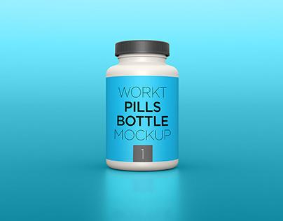 Free Pills Bottle mockup