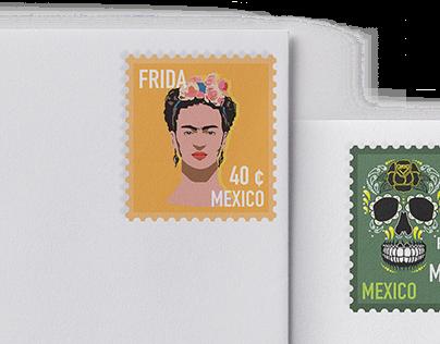Postage Stamps   Mexico & Korea