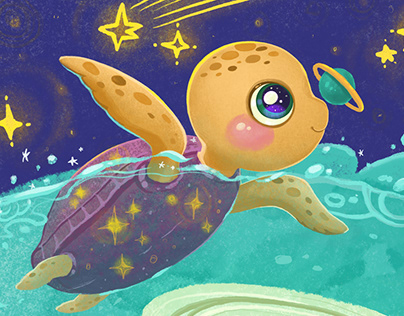 Sea turtle and Planet